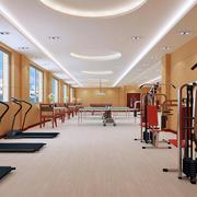 氛围活跃健身房装修效果图