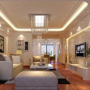 商住楼简约沙发背景墙装饰
