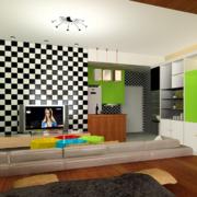 小户型欧式客厅电视机背景墙装修效果图鉴赏