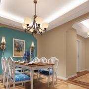 2016别墅型地中海风格餐厅装修效果图鉴赏