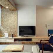 日式客厅电视背景墙装饰