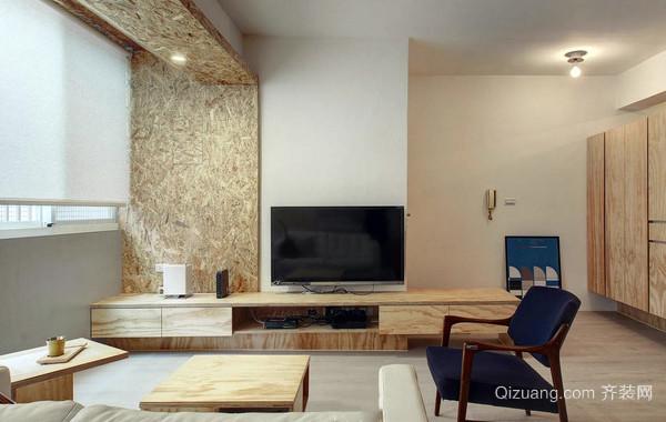100平米日式简约风格清新客厅装饰展示图