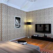 30平米现代简约风格卧室家装壁纸装修图