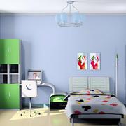 清新风格儿童房效果图