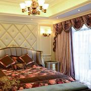 大型复式楼奢华卧室窗帘装饰