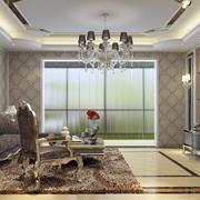 欧式精致风格客厅吊顶装饰