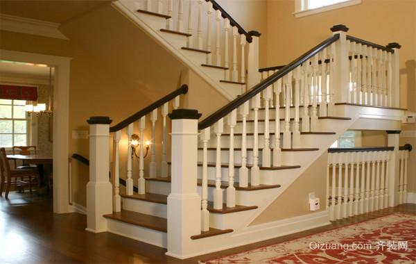 2016欧式风格别墅型楼梯装修效果图实例欣赏
