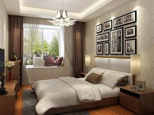 30平米欧式风格卧室家装窗帘效果图