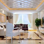 商住楼客厅吊顶装饰