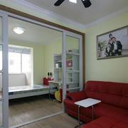 45平米现代小公寓隔断设计效果图