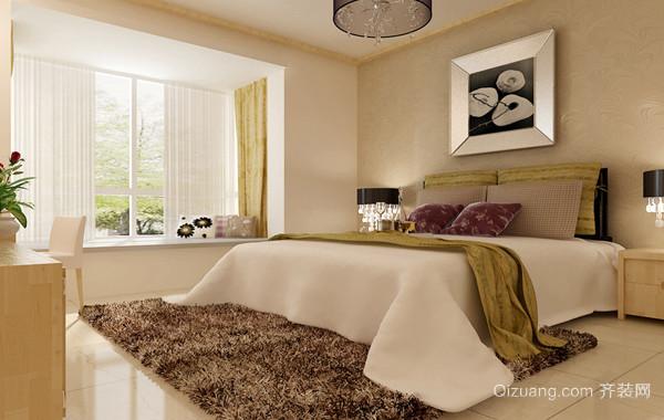 40平米简欧风格小户型卧室装修效果图实例欣赏