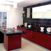 轻快简约40平米小户型厨房装修效果图