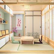 日式浅色系客厅原木装饰
