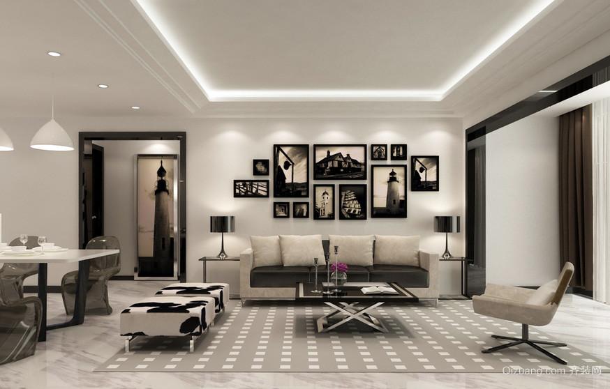 后现代风格客厅沙发背景墙装修效果图