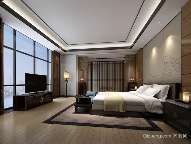 后现代风格深色系卧室床头柜装修效果图