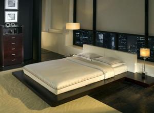 日式简约风格朴素交换空间卧室装修图