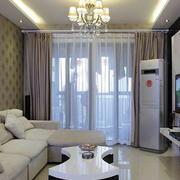 商住楼客厅电视背景墙装饰