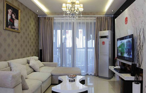 120平米现代简约风格商住楼客厅装修效果图