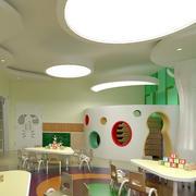 幼儿园简约风格教室吊顶装饰