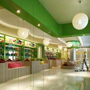 水果店采用灯饰装饰