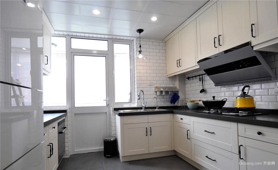 现代清新40平米小户型厨房装修效果图