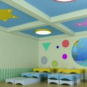 幼儿园简约风格创意吊顶装饰