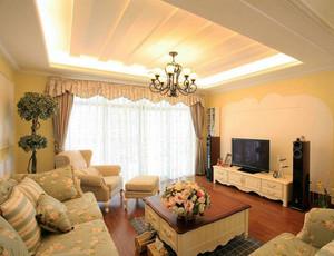 120平米韩式清新家装设计样板间效果图