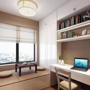 现代简约风格居民楼简易书房装修效果图