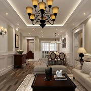 90平米居民楼欧式简约风格客厅装修图