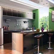 简欧清新40平米小户型厨房装修效果图