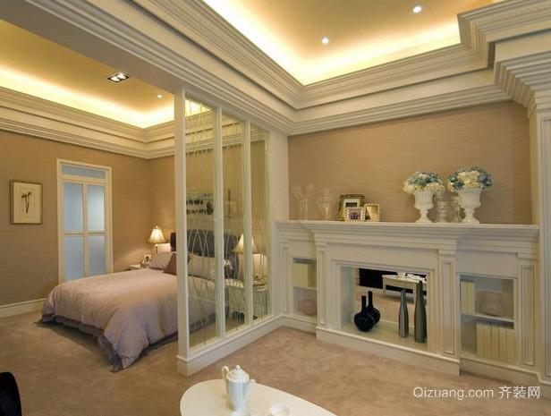 60平米欧式简约风格精致小户型卧室装修图
