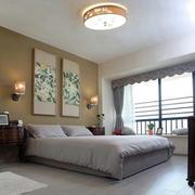 日式简约卧室窗户装饰