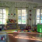 幼儿园清新风格背景墙设计