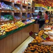 水果店原木置物架装饰