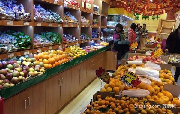 80平米清新简约风格水果店装修装饰图