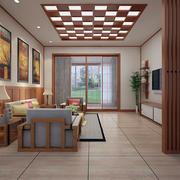 日式简约风格原木吊顶装饰