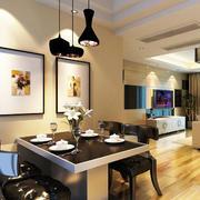 110平米两室一厅现代餐厅装修设计图
