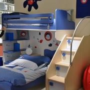 现代儿童床整体造型图