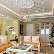欧式客厅精致吊顶装饰