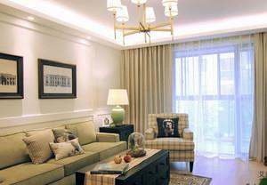 90平米大户型欧式精致的客厅窗帘装修效果图