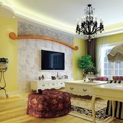 100平米韩式风格客厅装家壁纸装修效果图