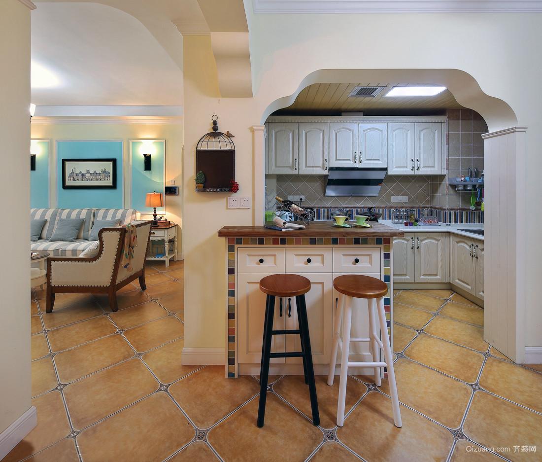 现代简约40平米小户型厨房装修效果图