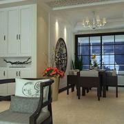 复式楼欧式简约风格精致客厅储物柜装修图