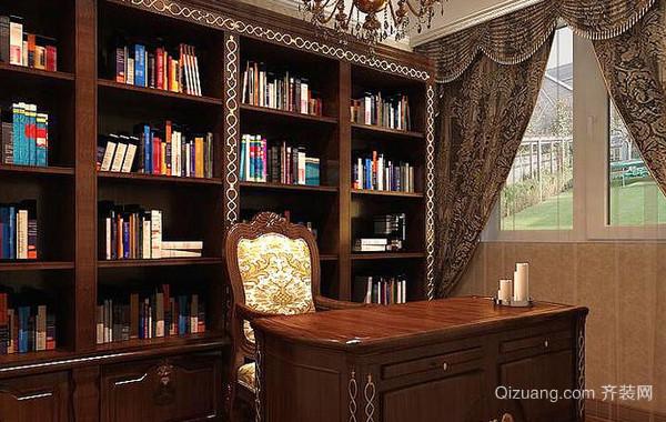专为别墅打造的简欧风格书房装修效果图
