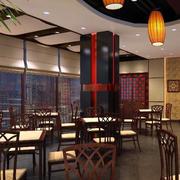 大型快餐店复古灯饰装饰