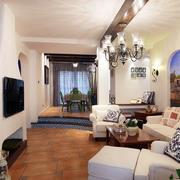 地中海风格简约电视背景墙装饰