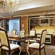 法式风格餐厅桌椅装饰