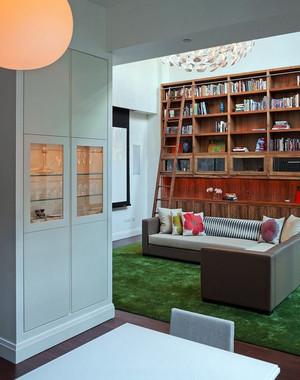 现代简约风格公寓客厅储物柜装修效果图