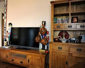 90平米美式简约风格客厅储物柜装修图