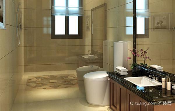 大户型中式简约风格卫生间装修效果图